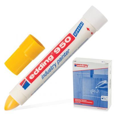 Маркер-паста Edding E-950/5 10 мм желтый маркер edding e 950 1 10mm black 35722