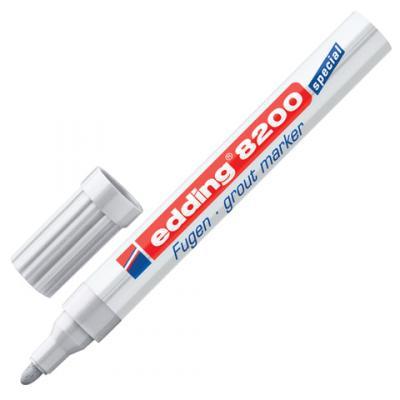 Маркер для затирки плиточных швов Edding E-8200/26 2-4 мм серебристый серый маркер edding e 8010 0 8mm white 45545