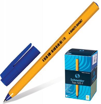 цена на Шариковая ручка шариковая SCHNEIDER Ручка шариковая Tops 505 F синий 0.4 мм