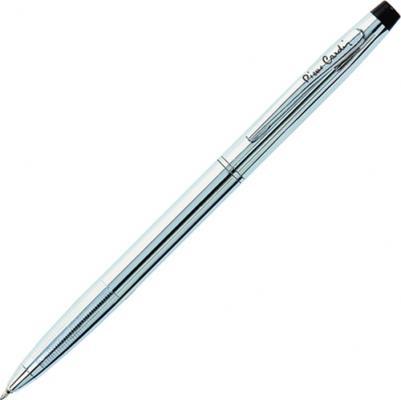 """Ручка подарочная шариковая PIERRE CARDIN (Пьер Карден) """"Gamme"""", корпус серебристый, латунь, хром, синяя, PC0804BP"""