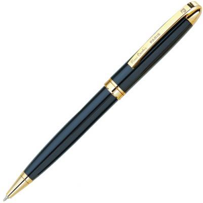 """Ручка подарочная шариковая PIERRE CARDIN (Пьер Карден) """"Gamme"""", корпус черный, латунь, золотистые детали, синяя, PC0834BP"""