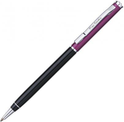 """Ручка подарочная шариковая PIERRE CARDIN (Пьер Карден) """"Gamme"""", корпус черный/фиолетовый, алюминий, хром, синяя, PC0893BP"""