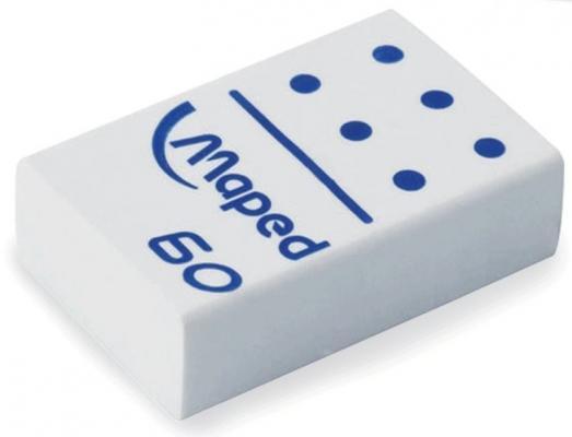 Резинка стирательная Maped Domino 60 1 шт прямоугольный резинка стирательная maped essentials soft 13 1 шт прямоугольный