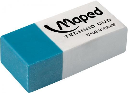 Резинка стирательная Maped Technic Duo 1 шт прямоугольный резинка стирательная maped essentials soft 13 1 шт прямоугольный