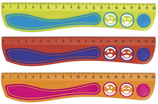 Фото - Линейка Maped Kidy'Grip 20 см пластик линейка maped twist n flex гибкая 15 см