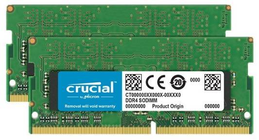 Оперативная память для ноутбука 32Gb (2x16Gb) PC4-21300 2666MHz DDR4 SO-DIMM CL19 Crucial CT2K16G4SFD8266 все цены
