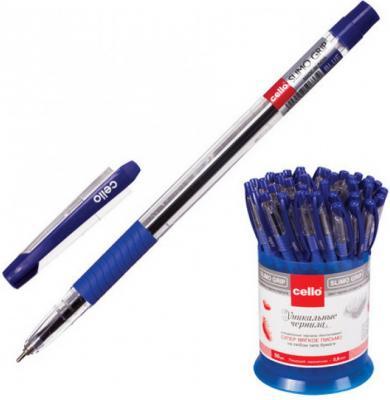 Ручка шариковая масляная Cello Slimo Grip синий 0.5 мм ручка cello