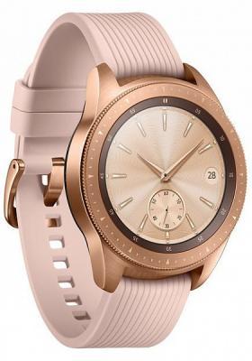 Смарт-часы Samsung Galaxy Watch 42мм 1.2 Super AMOLED розовое золото (SM-R810NZDASER) смарт часы samsung galaxy gear s3 frontier sm r760 1 3 super amoled темно серый sm r760ndaaser