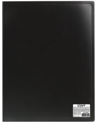 Папка 60 вкладышей STAFF, черная, 0,5 мм, 225705