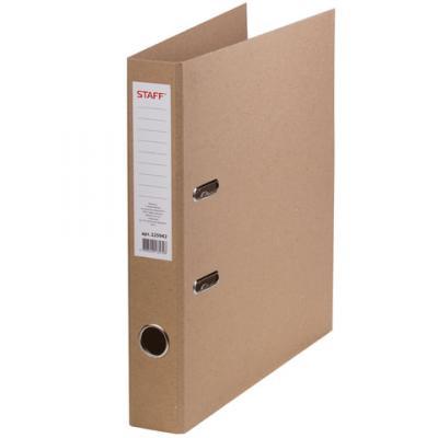 Папка-регистратор STAFF картонная, без покрытия и уголка, 55 мм, 225942 папка регистратор 80 мм эконом без покрытия