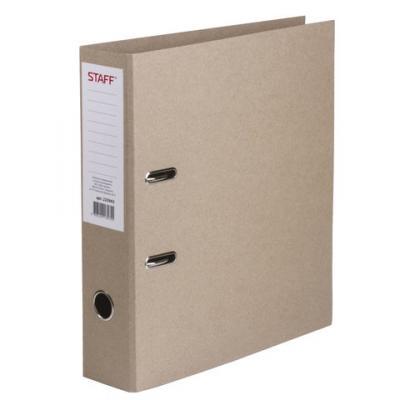 Папка-регистратор STAFF, картонная, без покрытия и уголка, 75 мм, 225943 папка регистратор 80 мм эконом без покрытия