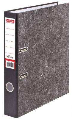 Папка-регистратор ОФИСМАГ, фактура стандарт, с мраморным покрытием, 50 мм, черный корешок, 222096 папка регистратор офисмаг фактура стандарт с мраморным покрытием 80 мм синий корешок 225583