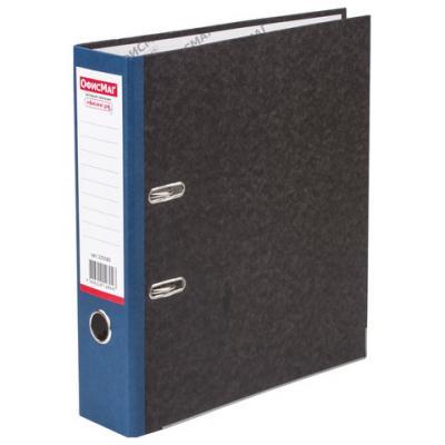 Папка-регистратор ОФИСМАГ, фактура стандарт, с мраморным покрытием, 80 мм, синий корешок, 225583 папка регистратор офисмаг фактура стандарт с мраморным покрытием 80 мм синий корешок 225583