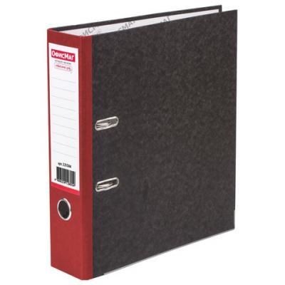 Папка-регистратор ОФИСМАГ, фактура стандарт, с мраморным покрытием, 80 мм, красный корешок, 225584 папка регистратор офисмаг фактура стандарт с мраморным покрытием 80 мм синий корешок 225583