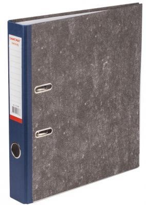 Папка-регистратор ОФИСМАГ, фактура стандарт, с мраморным покрытием, 50 мм, синий корешок, 225586 папка регистратор офисмаг фактура стандарт с мраморным покрытием 80 мм синий корешок 225583