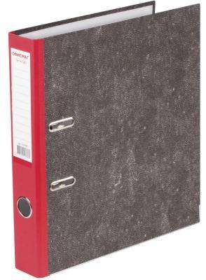 Папка-регистратор ОФИСМАГ, фактура стандарт, с мраморным покрытием, 50 мм, красный корешок, 225587 папка регистратор офисмаг фактура стандарт с мраморным покрытием 80 мм синий корешок 225583