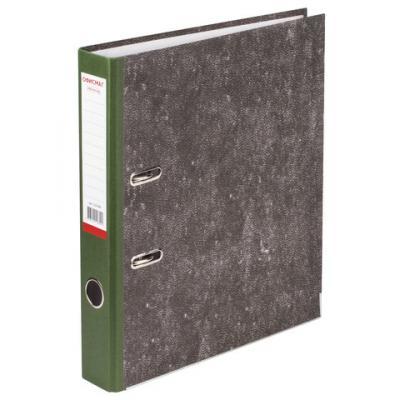 Папка-регистратор ОФИСМАГ, фактура стандарт, с мраморным покрытием, 50 мм, зеленый корешок, 225588 папка регистратор офисмаг фактура стандарт с мраморным покрытием 80 мм синий корешок 225583