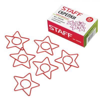 "Скрепки STAFF ""Звезда"", 32 мм, 20 шт., в картонной коробке, 226249"