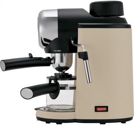 Кофеварка эспрессо Polaris PCM 4005A 800Вт бежевый кофеварка эспрессо polaris pcm 1530ae adore cappuccino 1350вт нержавеющая сталь черный