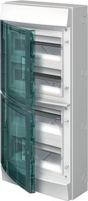 Купить ABB 1SLM006501A1207 Бокс настенный 48М прозрачная дверь Mistral65 (с клемм), серый