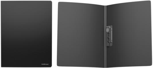 Папка с боковым металлическим прижимом ERICH KRAUSE Classic, А4, до 160 листов, 500 мкм, черная, 43043 папка с прижимным механизмом и боковым карманом а4 черная