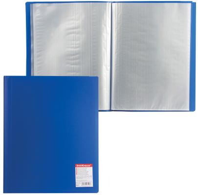 """Папка 40 вкладышей ERICH KRAUSE """"Standard"""", А4, вертикальная, синяя, 0,6 мм, 3143 стоимость"""
