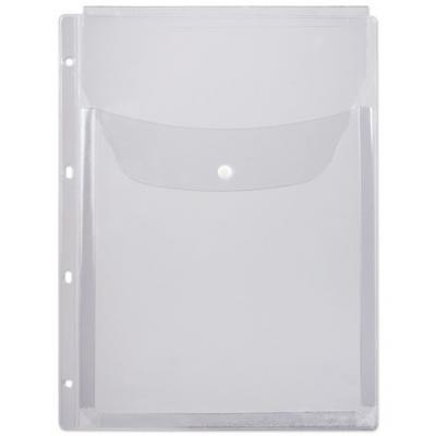 Папка-файл перфорированная, А4, объемная, до 200 листов, клапан с кнопкой, 180 мкм, ДПС, 2308