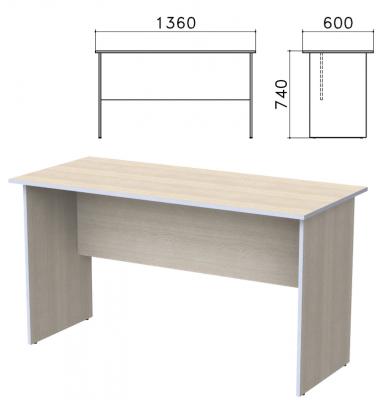Стол письменный Бюджет, 1360х600х740 мм, дуб шамони светлый, 402661-430 стол стул для кормления пмдк октябренок капитошка светлый дуб