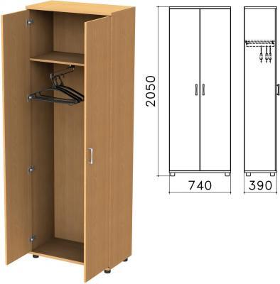 "Шкаф для одежды ""Монолит"", 740х390х2050 мм, цвет бук бавария, ШМ49.1"