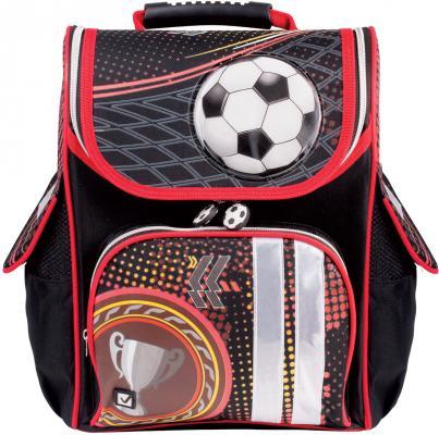 Ранец BRAUBERG Футбол 18 л разноцветный рисунок школьные рюкзаки brauberg ранец динозавр 17 л
