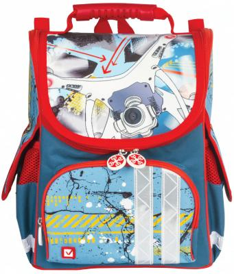 Рюкзак светоотражающие материалы BRAUBERG Коптер 17 л синий школьные рюкзаки brauberg ранец коптер 17 л