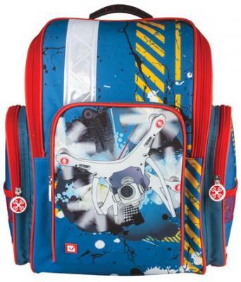 Ранец водонепроницаемый BRAUBERG Коптер 18 л синий школьные рюкзаки brauberg ранец коптер 17 л
