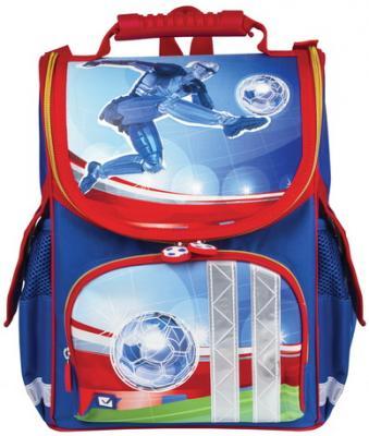 Ранец светоотражающие материалы BRAUBERG Дроид-футболист 17 л синий школьные рюкзаки brauberg ранец динозавр 17 л