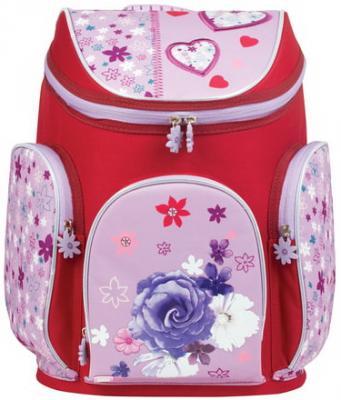 Купить Ранец жесткокаркасный BRAUBERG для учениц начальной школы, Роза , 14 литров, 38х29х19 см, 226323, розовый, пенополиуретан, прорезиненная ткань, Школьные ранцы