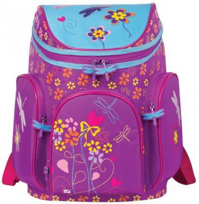 Купить Ранец жесткокаркасный BRAUBERG для учениц начальной школы, Стрекоза , 14 литров, 38х29х19 см, 226322, фиолетовый, пенополиуретан, прорезиненная ткань, Школьные ранцы