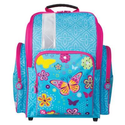 Ранец жесткокаркасный светоотражающие материалы BRAUBERG Махаон 18 л голубой школьные рюкзаки brauberg ранец динозавр 17 л