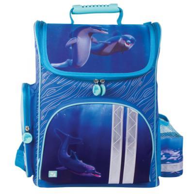 Ранец светоотражающие материалы BRAUBERG Дельфин 20  синий