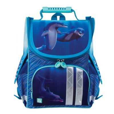 купить Ранец светоотражающие материалы BRAUBERG Дельфин 17 л синий по цене 1050 рублей