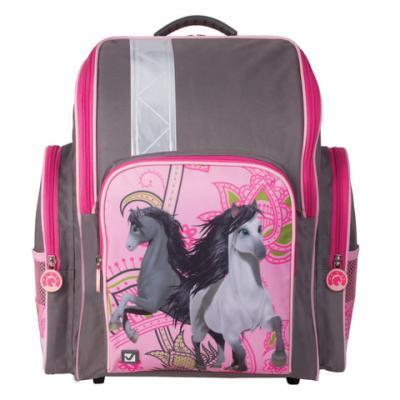 Ранец светоотражающие материалы BRAUBERG Лошади 18 л мультиколор рюкзак brauberg лошади 226272