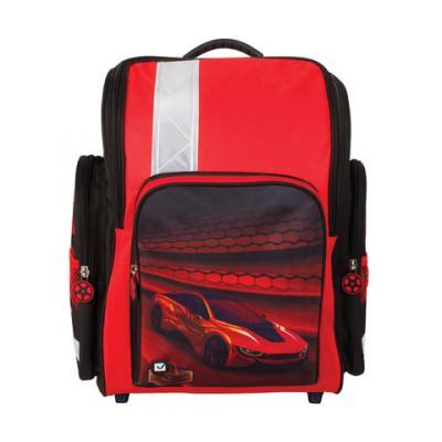 Ранец светоотражающие материалы BRAUBERG Красная фурия 18 л черный красный школьные рюкзаки brauberg ранец динозавр 17 л