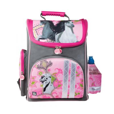 Ранец светоотражающие материалы BRAUBERG Лошади 20 л розовый цена и фото
