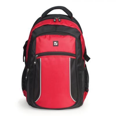 Купить Рюкзак ручка для переноски BRAUBERG Пламя 20 л черный красный, черный, красный, полиэстер, Ранцы, рюкзаки и сумки