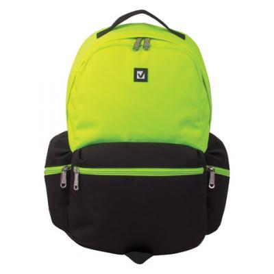 Купить Рюкзак ручка для переноски BRAUBERG Гарвард 27 л черный салатовый, черный, салатовый, полиэстер, Ранцы, рюкзаки и сумки