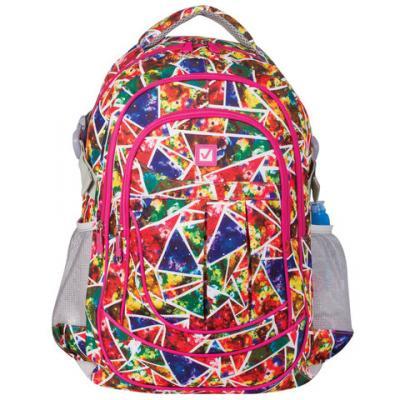 Купить Рюкзак ручка для переноски BRAUBERG Абстракция 26 л мультиколор, полиэстер, Ранцы, рюкзаки и сумки