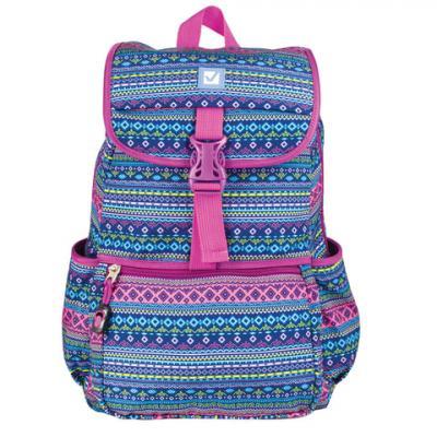 Купить Рюкзак ручка для переноски BRAUBERG Орнамент 15 л мультиколор, полиэстер, Ранцы, рюкзаки и сумки