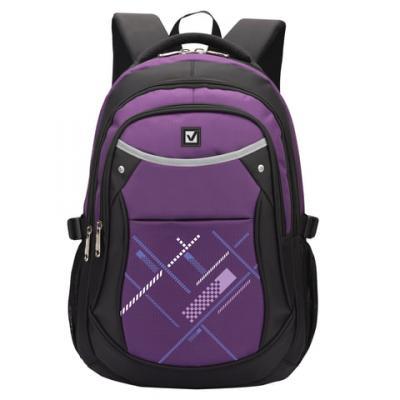 Купить Рюкзак ручка для переноски BRAUBERG Мамба 30 л фиолетовый, полиэстер, Ранцы, рюкзаки и сумки