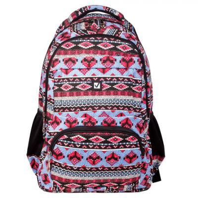 Купить Рюкзак ручка для переноски BRAUBERG Фигуры 27 л мультиколор, канвас, Ранцы, рюкзаки и сумки