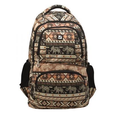 Купить Рюкзак ручка для переноски BRAUBERG Слоны 27 л мультиколор, канвас, Ранцы, рюкзаки и сумки