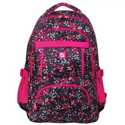 Купить Рюкзак ручка для переноски BRAUBERG Цветы 26 л мультиколор, полиэстер, Ранцы, рюкзаки и сумки