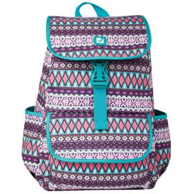 Купить Рюкзак ручка для переноски BRAUBERG Ромб 15 л бирюзовый, полиэстер, Ранцы, рюкзаки и сумки